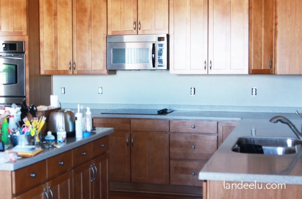 Kitchen Backsplash Vinyl easy vinyl backsplash for the kitchen - landeelu