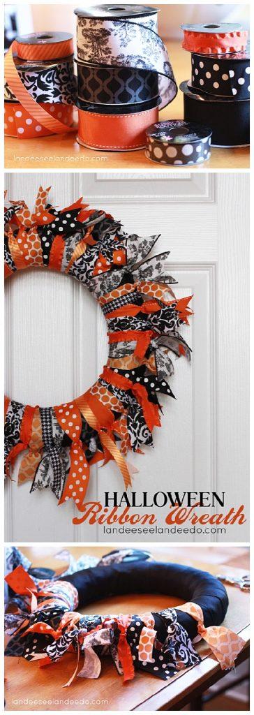 halloween wreath. Black Bedroom Furniture Sets. Home Design Ideas