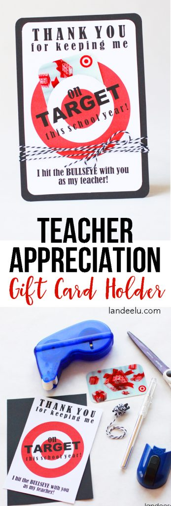 Teacher Appreciation Gift Idea... every teacher LOVES Target! Cute way to give a gift card.