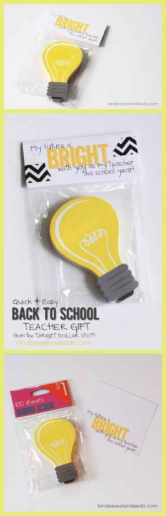 Fun and Easy Teacher Back to School Gift and FREE PRINTABLE Gift Tag