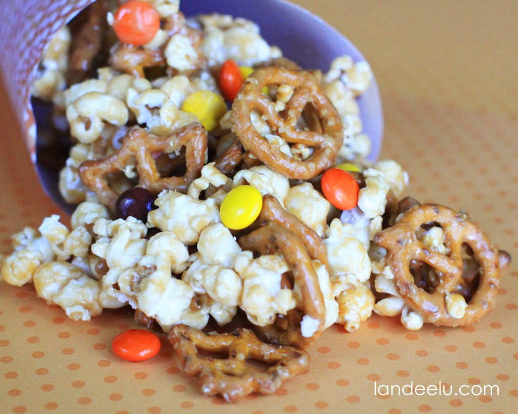 Reese's Pieces and Pretzel Popcorn Recipe 1