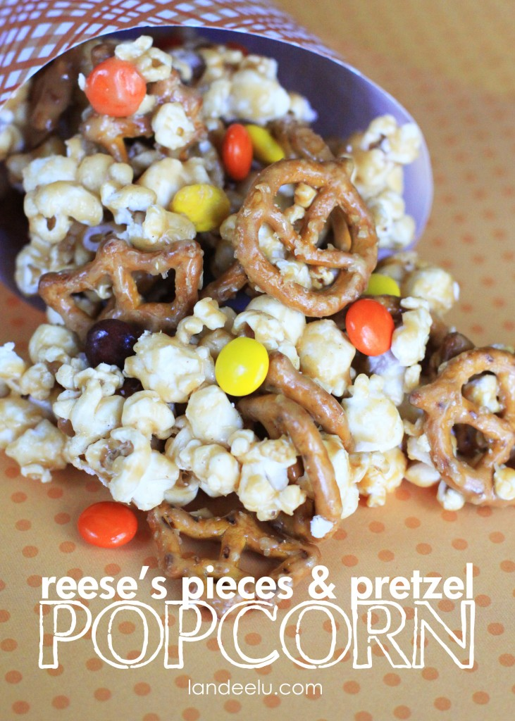 ... Reese's Pieces & Pretzel Popcorn! How can you go wrong with that