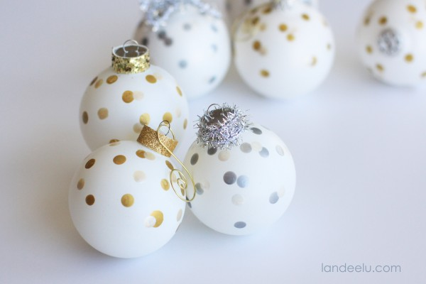 Confetti Ornaments DIY