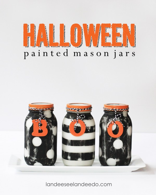 Halloween Painted Mason Jars title