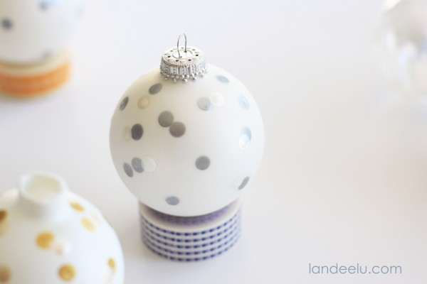 Painted Confetti Ornaments