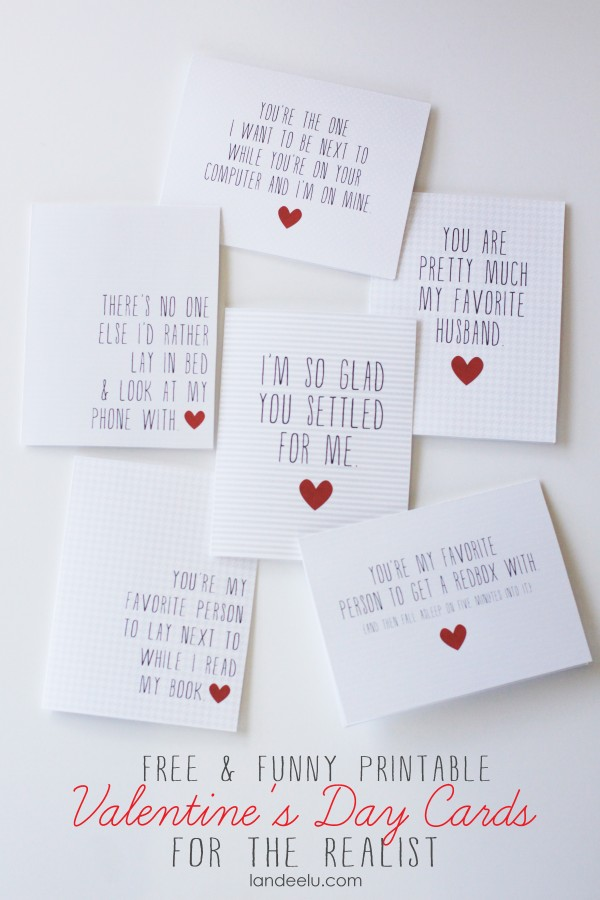 card craft for valentine day - Printable Funny Valentine s Day Cards landeelu