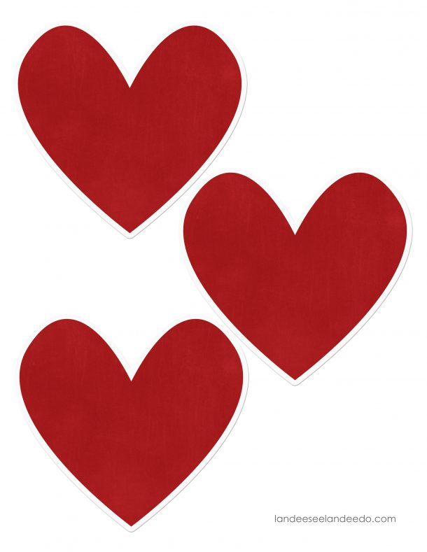 picture relating to Printable Red Hearts identified as Valentine Center Garland -