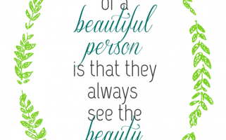 Beauty Quote: Inspiring