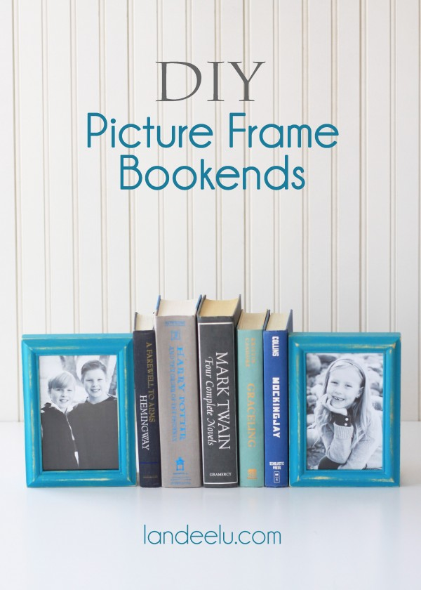 DIY Picture Frame Bookends
