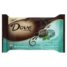 dove mint and dark chocolate swirl