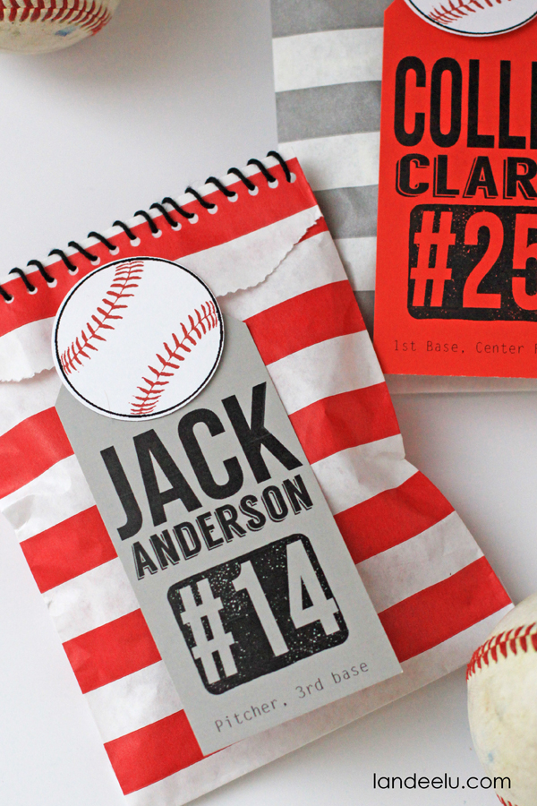 Baseball Team Goodie Bags Idea from landeelu.com