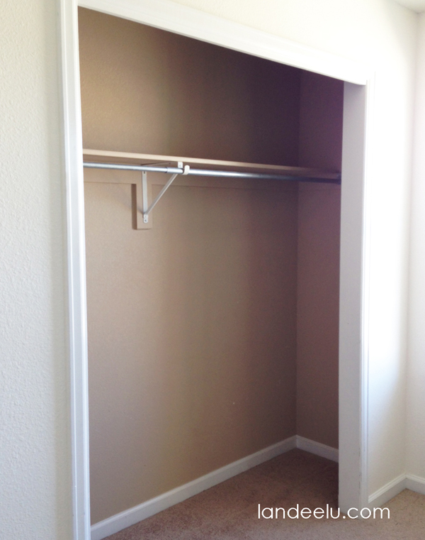 Closet Makeover Before Shot