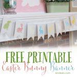 Free Printable Bunny Banner
