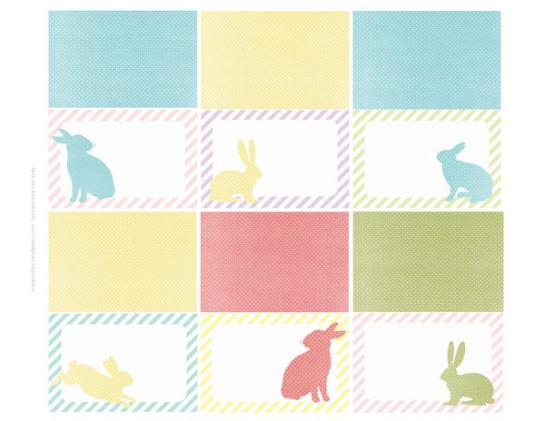 Dynamite image in easter place cards printable