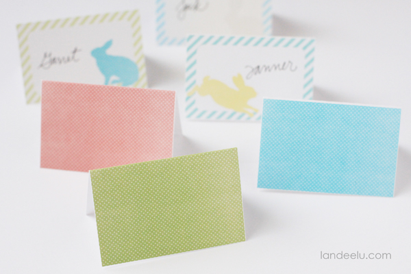 Playful image pertaining to easter place cards printable