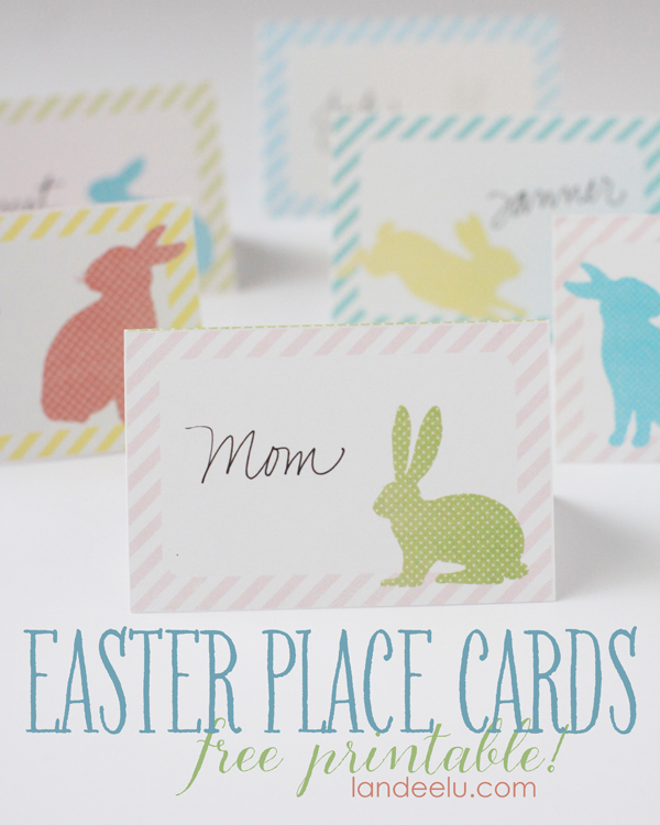 Easter Place Cards--free printable