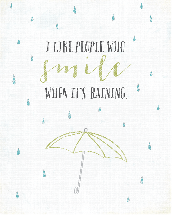 Smile When It's Raining Printable from landeelu.com