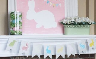 Spring Mantel Decorating Idea from landeelu.com