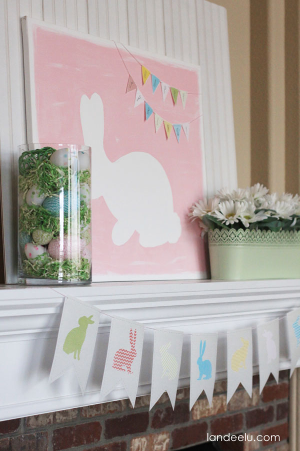 Spring Mantel Decorating