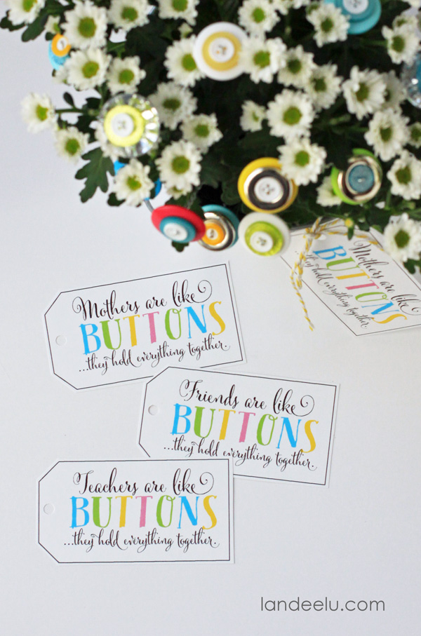 Flower Craft and Free Printable Tags