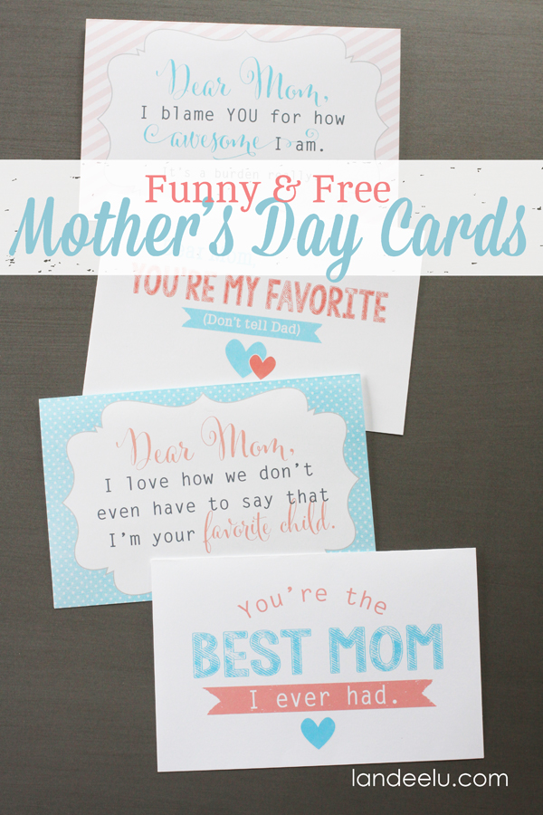 Invaluable image within free printable funny mothers day cards