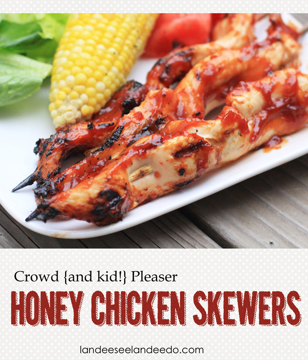 Honey Chicken Skewers Recipe from landeelu.com