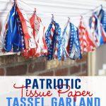 Patriotic Tissue Paper Tassel Garland
