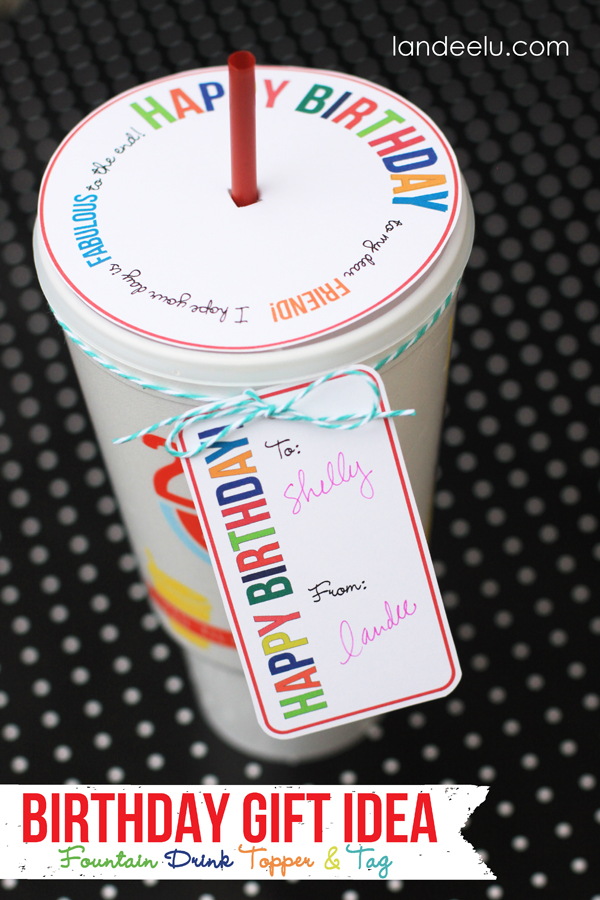 Awesome Birthday Gift Idea: Drink Topper and Tag from landeelu.com