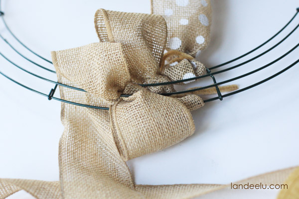 How to make a burlap wreath for How to use burlap ribbon