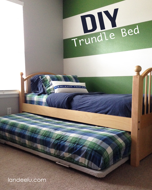 DIY Trundle Bed: A Furniture Hack from landeelu.com