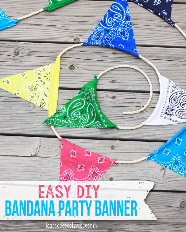 Easy DIY Bandana Party Banner from landeelu.com