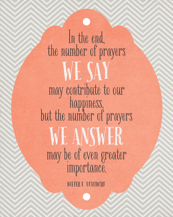 Prayers We Answer Quote