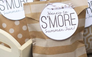 S'mores Summer Party Goodie Bags {landeelu.com}