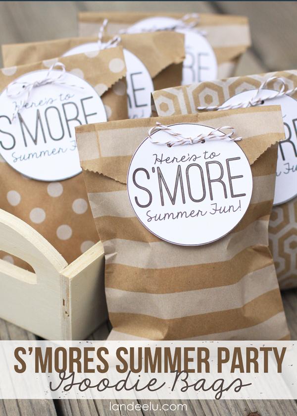 S'mores Summer Party Goodie Bags {landeelu.com}