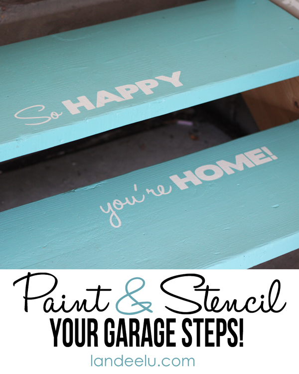 Stencil Your Garage Steps!  Why not?  {landeelu.com}