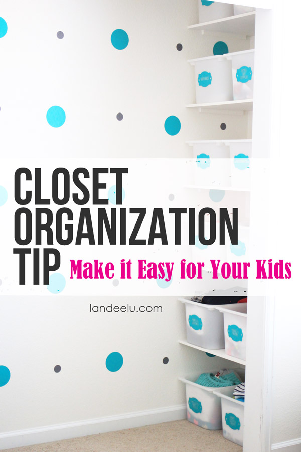 Closet Organization Tip to help keep kids organized on their own! via Landeelu - Closet Organization Ideas and Space Saving Hacks
