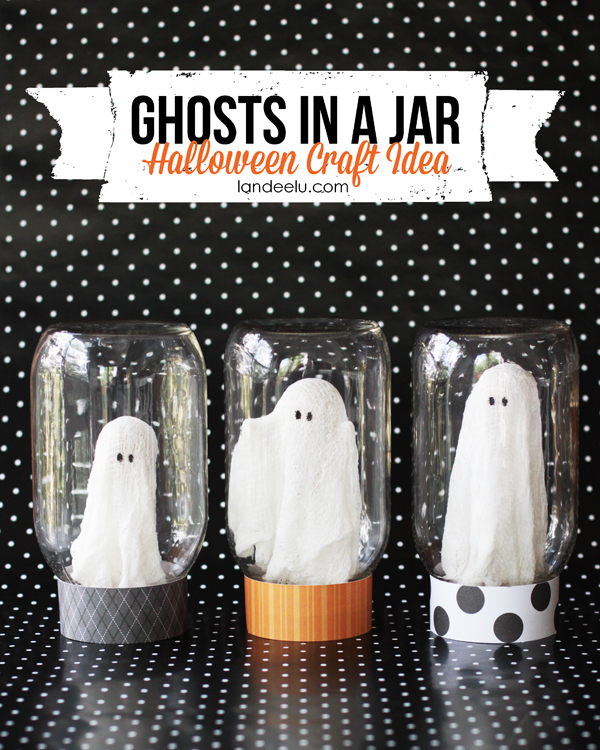 Halloween Crafts And Decorations: Halloween Craft: Ghosts In A Jar