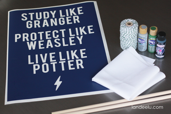 DIY Harry Potter Art from Landeelu.om