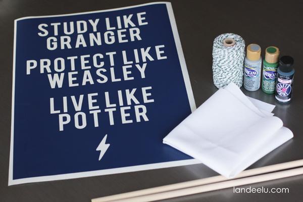 DIY Harry Potter Art from Landeelu.om