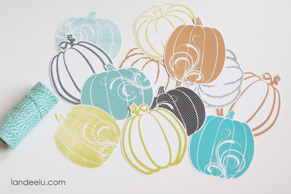Fresh Fall Pumpkin Garland ... a free printable from landeelu.com!