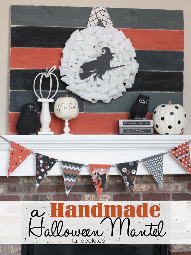 A Handmade Halloween Mantel | Landeelu