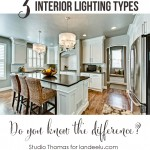 3 INTERIOR LIGHTING TYPES: Do you know the difference?
