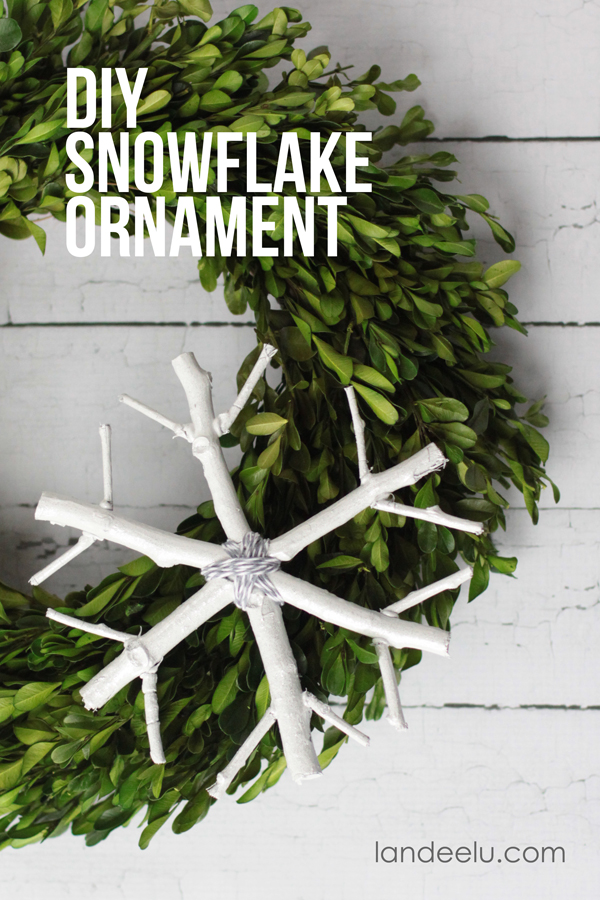 DIY Snowflake Ornament... practically free!  So cute!   From landeelu.com