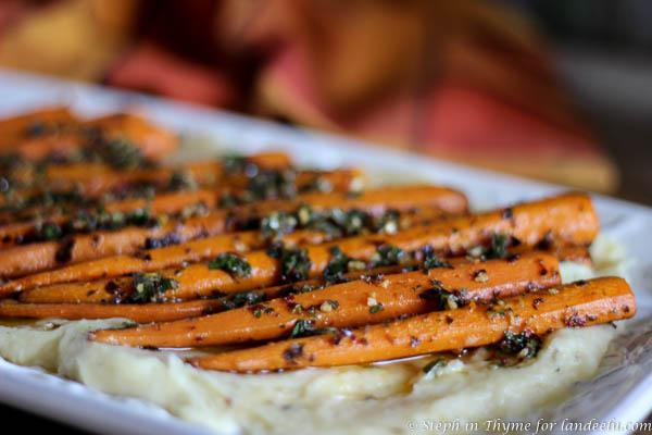 Chimichurri Carrots & Parmesan Parsnip Purée |landeelu.com