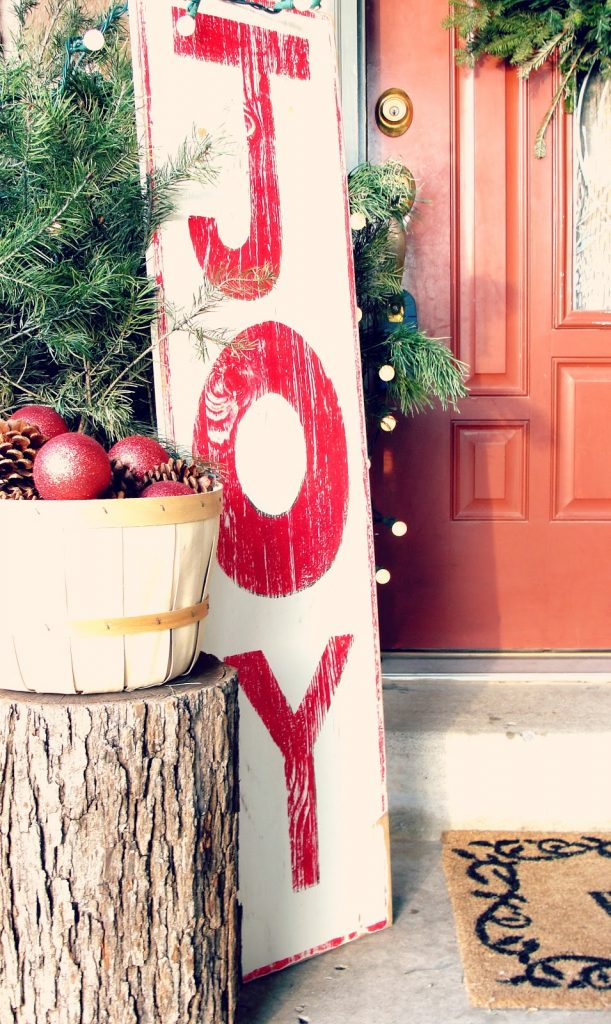 outdoor christmas signs ideas landeelucom - Joy Christmas Decoration