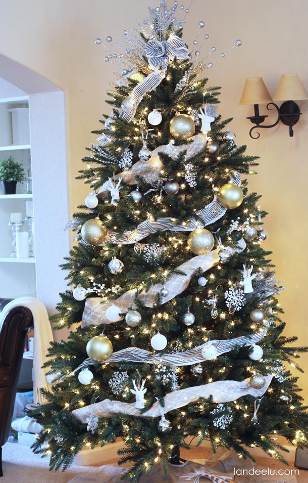 Metallic Neutral Christmas Tree Decorations Landeelu Com