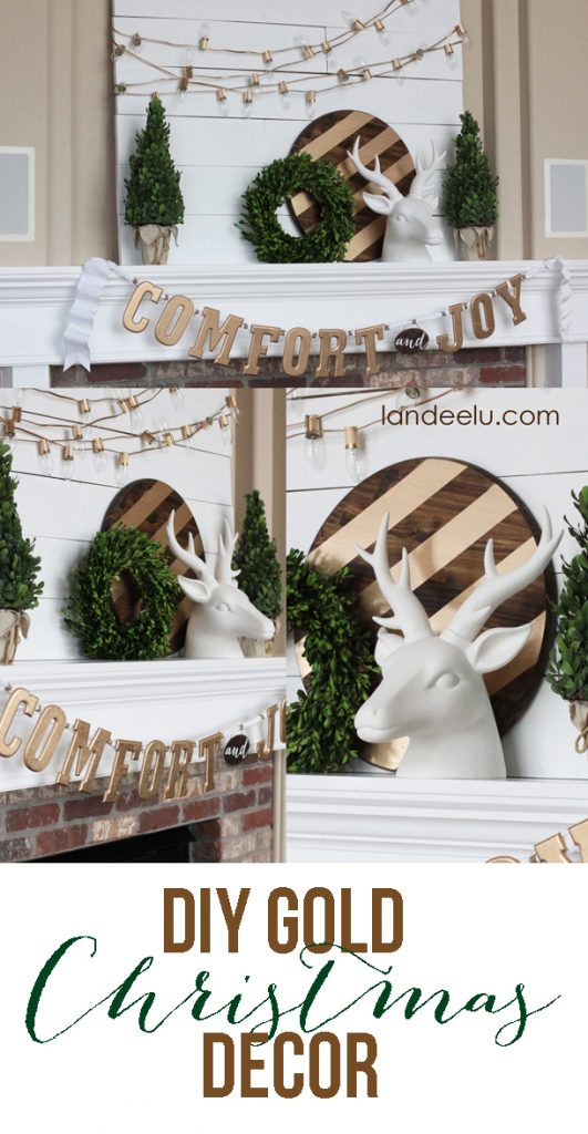 DIY GOLD Christmas Decor | landeelu.com