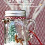Make a Mini Mason Jar Snow Globe Ornament!