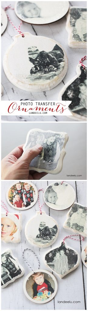DIY Photo Transfer Christmas Ornaments Tutorial - These make the best keepsake decorations for the holidays!