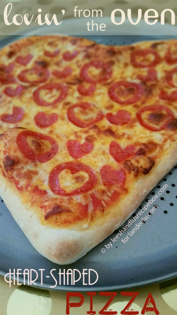 Heart Shaped Pizza for Two Recipe via Landeelu - Perfect for Valentine's Day Dinner!